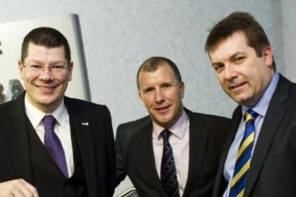 SPL chief Neil Doncaster, SFA counterpart Stewart Regan and SFL head David Longmuir have collaborated over new set-up
