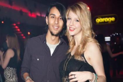 Nikhil Sharma and Jade Sturrock from Westerton were at The Garage