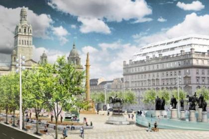 A new shortlisted design of how George Square could look after the revamp