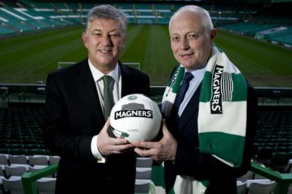 Celtic chief executive Peter Lawwell with Magners managing director Tom McCusker