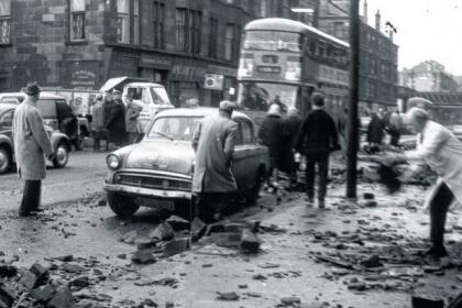 The scenes of devastation in Dumbarton Road in the hurricane's aftermath