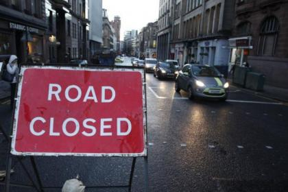 City centre roadworks led to tailbacks