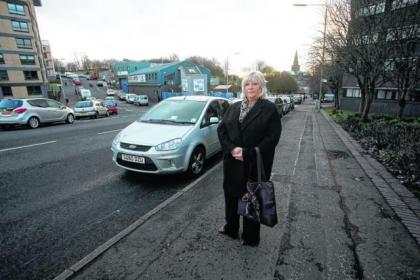 Elizabeth Haynes was upset at receiving a ticket for parking in Glasgow's Wishart Street