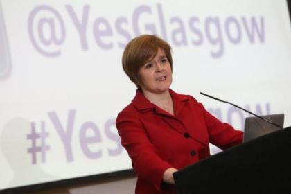 Nicola Sturgeon launched the campaign in Glasgow