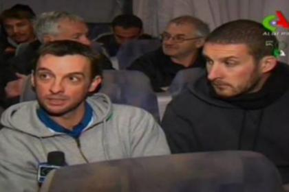 n Freed hostages talk to Algerian state television after their ordeal in the Sahara desert
