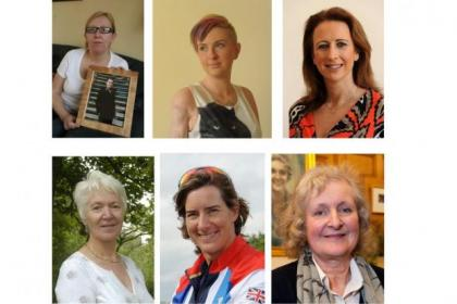 Clockwise from top left, Julie Love, Erin McNeill, Lisa Stephenson, Blanche Nicolson, Katherine Grainger, and Isabel McCue are our six finalists in the running to be Scotswoman of the Year
