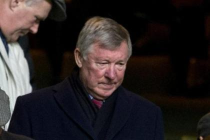 Sir Alex Ferguson watched on from the stand