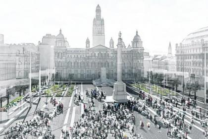 McAslan and Partners' winning design for George Square will no longer be going ahead