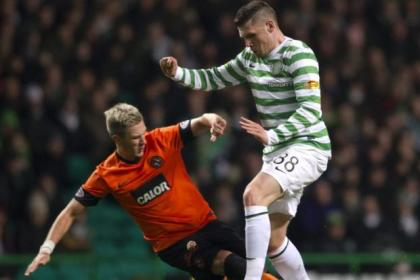 Hooper netted a brace infront of Ferguson