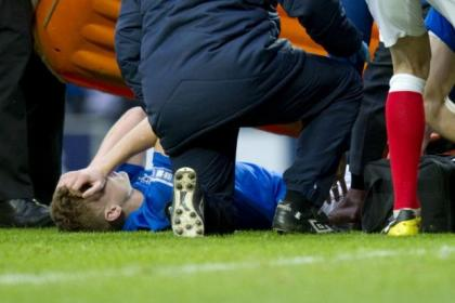 Lewis Macleod was stretchered off at the weekend