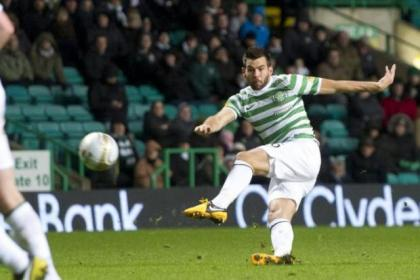 Joe Ledley put Celtic on the way against the Rugby Park side