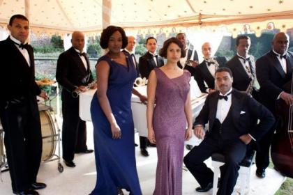 Carla (Wunmi Mosaku), Jessie (Angel Coulby) and Louis Lester (Chiwetel Ejiofor) are on song in Dancing on the Edge