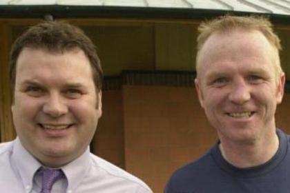 Derek Johnstone with Alex McLeish