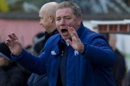 Ally McCoist shouts instructions to his players