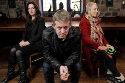 n Lousia Ludgate and Colin McCredie are joined by Vari Sylvester, right, in Thank You at Oran Mor. Picture: Nick Ponty