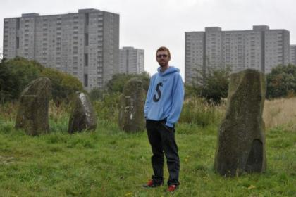 Gary Brown organises trips to take students to the Sighthill Stone Circle