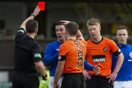 Ian Black, pictured, and Kal Naismith both saw red for Rangers at the weekend