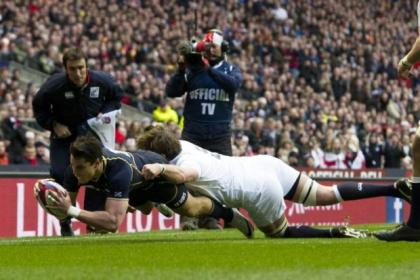 Warriors' Sean Maitland's try gave Scotland a glimpse of hope before the roof fell in