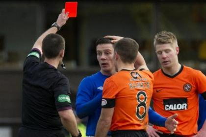 Ian Black's red card at Tannadice heaped more misery on manager McCoist