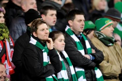 Celtic fans were despondent at the final whistle
