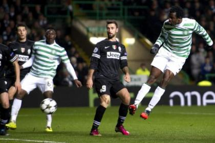 Celtic defender Efe Ambrose was at fault at both ends after heading into the turf from close range