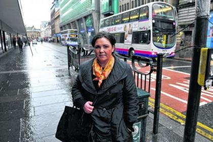 Alison McLean was caught in bus lane as she dropped her daughter off stopping 'for only a moment'