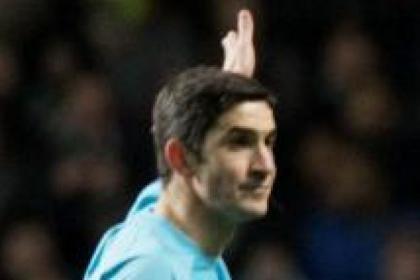 Spanish referee Alberto Mallenco was criticised by Neil Lennon
