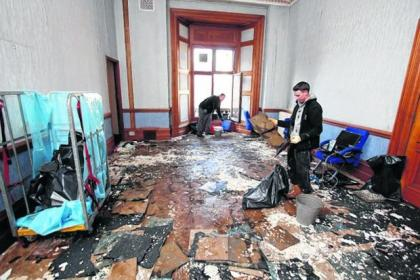 Radiator leak floods City Chambers and it will cost thousands of pounds to repair damage