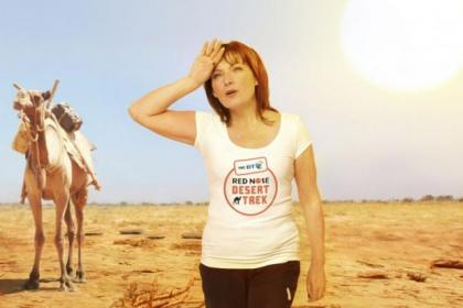 Lorraine Kelly has endured the desert heat to raise money for Comic relief