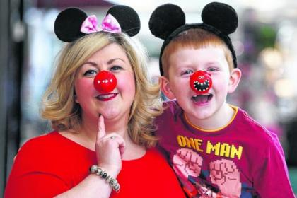 Glasgow singer Michelle McManus with little Martin McKenzie