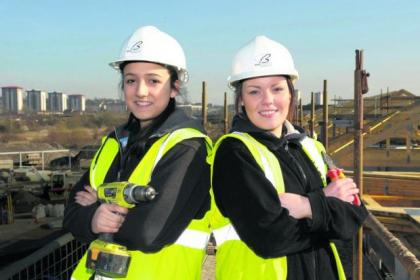 First-year apprentice Megan Cowan, far left, with her mentor, Francine Chisholm