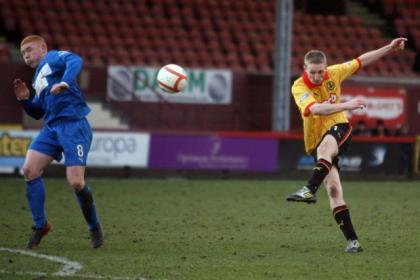 Action from the Thistle versus Airdrie match. Pictures: Stewart Attwood