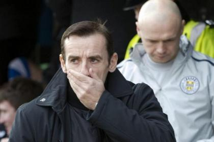 Danny Lennon was upset by the conditions at McDiarmid Park