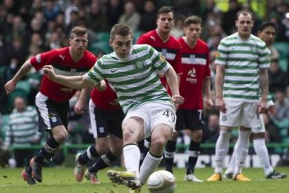 James Forrest netted from the spot in the 5-0 win over Dundee