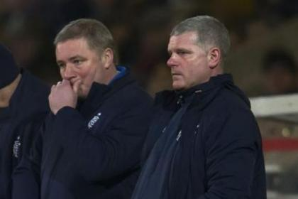 Ally McCoist and Ian Durrant were less than impressed with what they saw last night