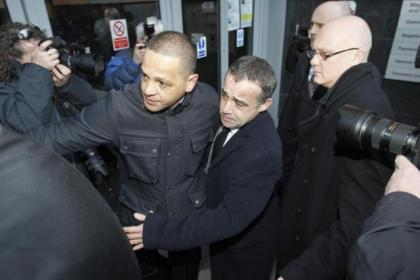 Michael Le Vell arrives at Manchester Magistrates' Court today