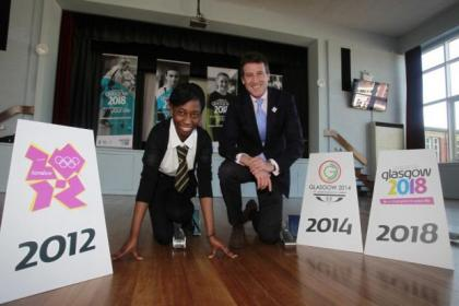Lord Coe visited Shawlands Academy to back Glasgow's bid for the 2018 Youth Olympic Games