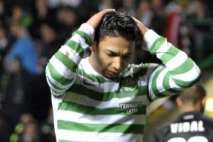 Emilio Izaguirre was caught out at both Motherwell goals