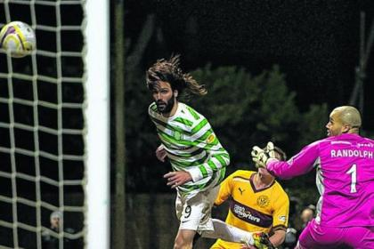 Georgios Samaras marked his return to the Celtic starting line-up with a goal