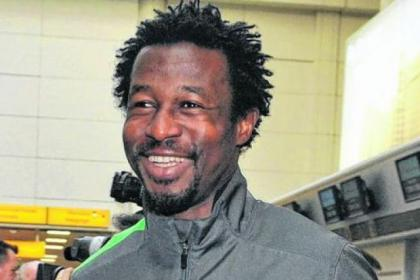 Efe Ambrose was in defiant mood as he jetted out from Glasgow Airport today Picture: Jamie Simpson