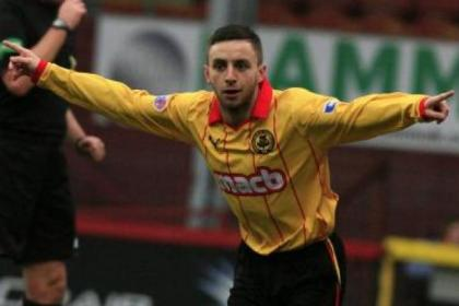 Stevie Lawless hit a double in Thistle's victory against Dumbarton