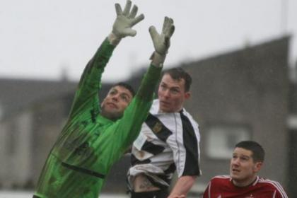 Rutherglen Glencairn v Camelon Emirates Scottish Cup action. Pictures: Stewart Attwood