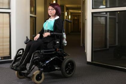 Wheelchair user Pam Duncan will be badly affected by reduced payments as part of Welfare reform