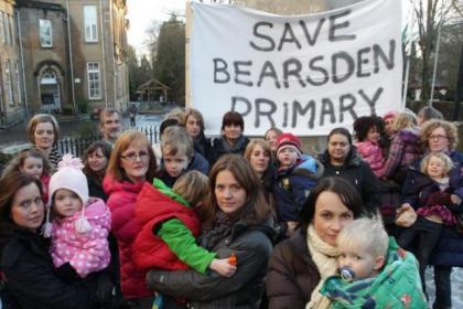 Parents have campaigned to keep Bearsden Primary open