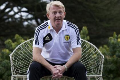 National team boss Gordon Strachan looks relaxed prior to Scotland's World Cup qualifier at Hampden tonight