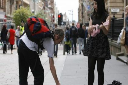 Busking at George Square and Merchant City are out of bounds