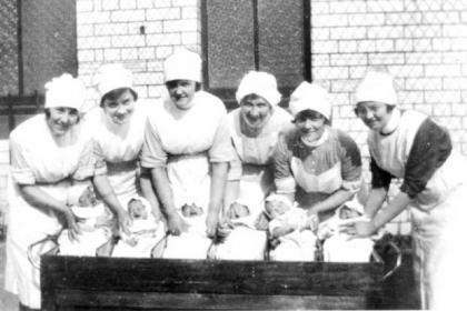 Nurses at the old Rottenrow Maternity