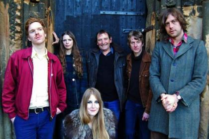 Mike Heron, back centre, with  Trembling Bells