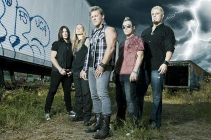 Chris Jericho, centre, with his heavy metal band Fozzy