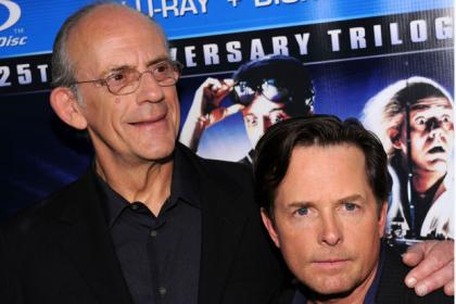 The original stars of the film Michael J Fox and Christopher Lloyd